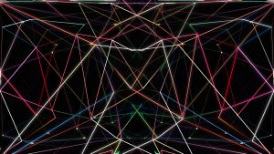 Neon Polygon Background
